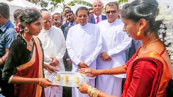 President Maithripala Sirisena at Kilinochchi