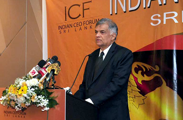 Ranil Wickremasinghe at Indian CEO forum