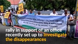 Rally to support missing persons office in Sri Lanka