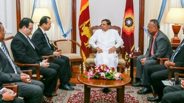 Thailand cement manufacture discussion with Sri Lanka President Maithripala Sirisena