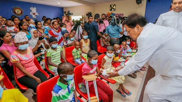 Sri Lanka President Maithripala Sirisena at Maharagama Apeksha Cancer Hospital