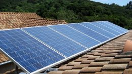 Solar panels in roof