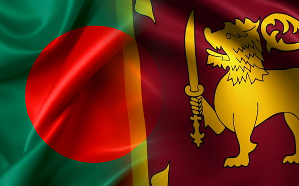 Sri Lanka and Bangladesh flags