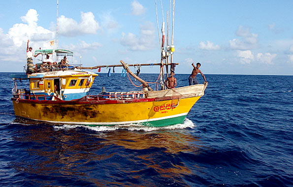 Sri Lanka fishing boat