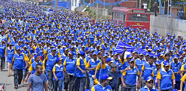 Sri Lanka Freedom party rally in Kurunegala