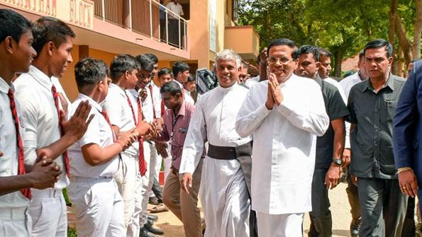 Sri Lanka President Maithripala Sirisena at Jaffna