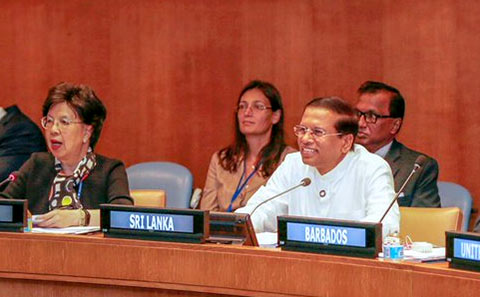 Sri Lanka President Maithripala Sirisena at UNGA