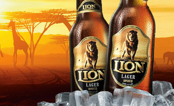 Lion beer in Sri Lanka
