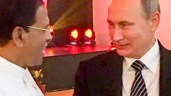 President of Sri Lanka Maithripala Sirisena with President of Russia Vladimir Putin