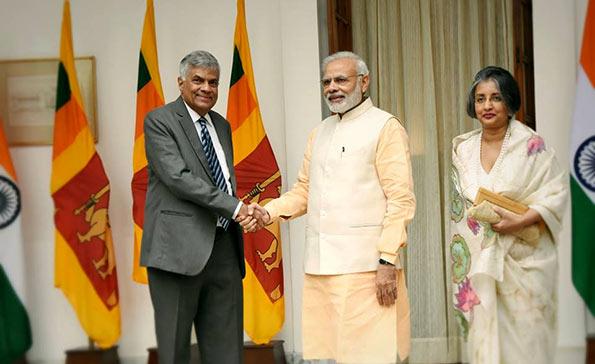 Sri Lanka Prime Minister Ranil Wickremesinghe meets India Prime Minister Narendra Modi