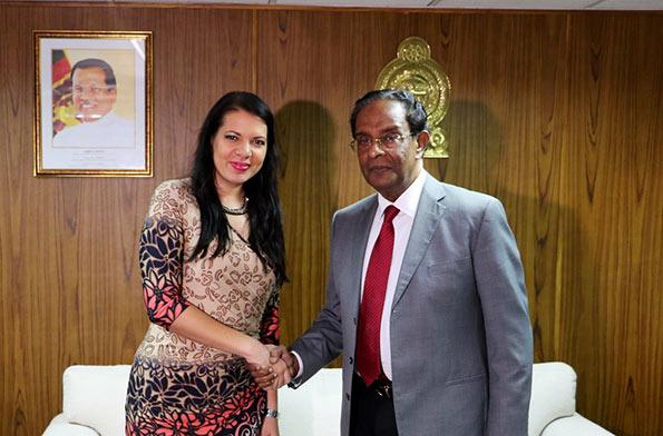 UN Rita Izsák-Ndiaye with D.M. Swaminathan