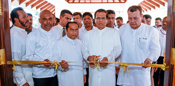 President Maithripala Sirisena at Madurawala Bulathsinhala