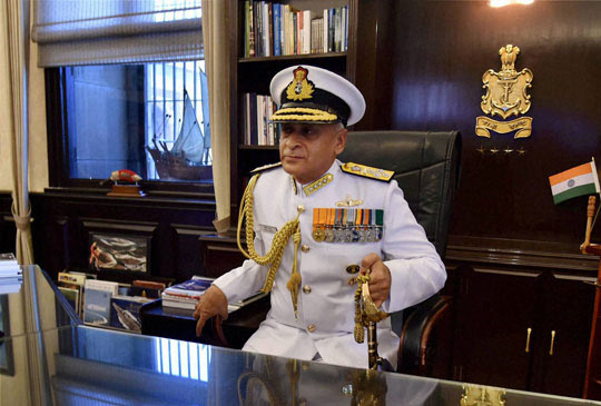 India Navy chief Admiral Sunil Lanba