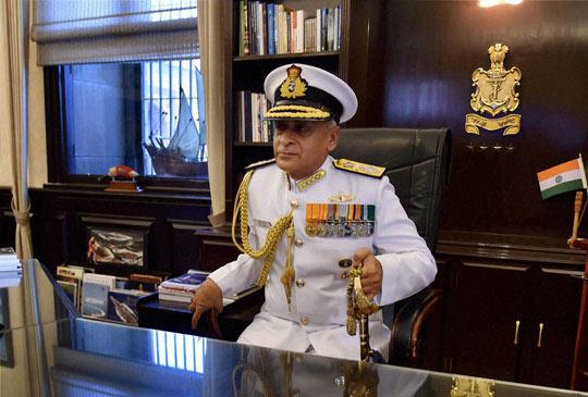 India Navy chief Admiral Sunil Lanba