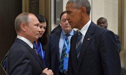 Barack Obama with Vladimir Putin