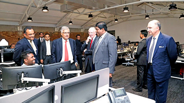 Ranil Wickremesinghe in LSEG Technology Facility