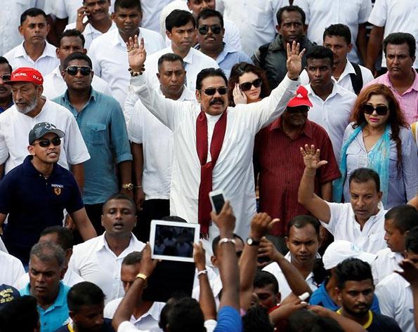 Sri Lanka's former president Mahinda Rajapaksa