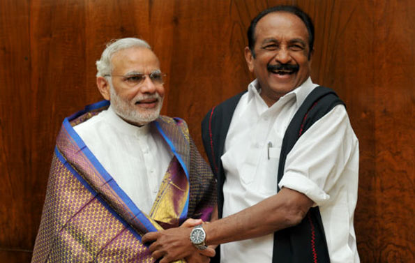 Vaiko with Narendra Modi