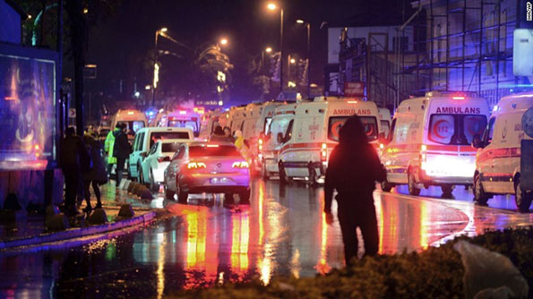 Attack at nightclub in Istanbul, Turkey