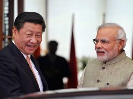 Chinese President with Indian Prime Minister Modi