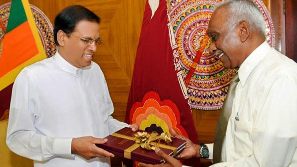 President Maithripala Sirisena and Professor Lakshman Jayathilaka