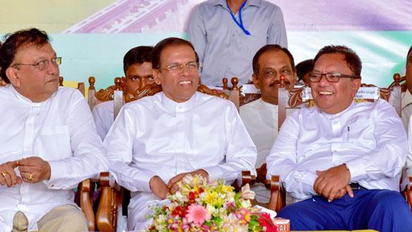 President Maithripala Sirisena at Halloluwa, Dodanwala in Kandy