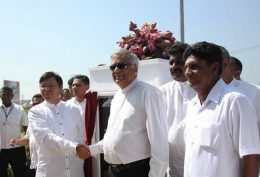 Ranil Wickremasinghe with Yi Xian Ling