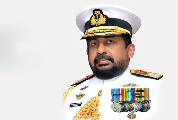 Sri Lankan Navy chief Vice Admiral Ravindra Wijegunaratne