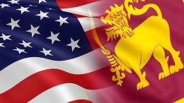 United States and Sri Lanka flags