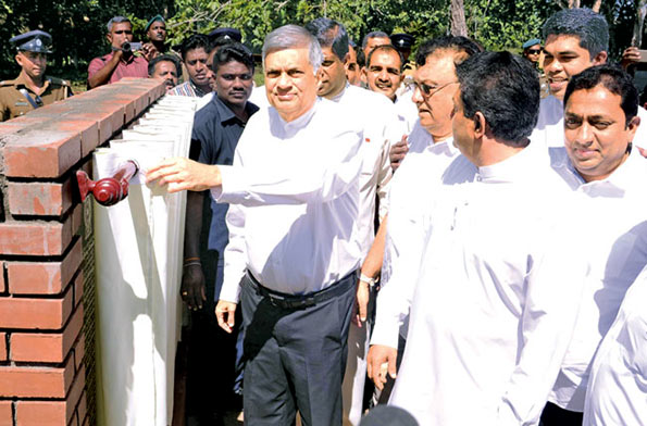 Sri Lanka Prime Minister Ranil Wickremesinghe launches second phase construction of Central Expressway