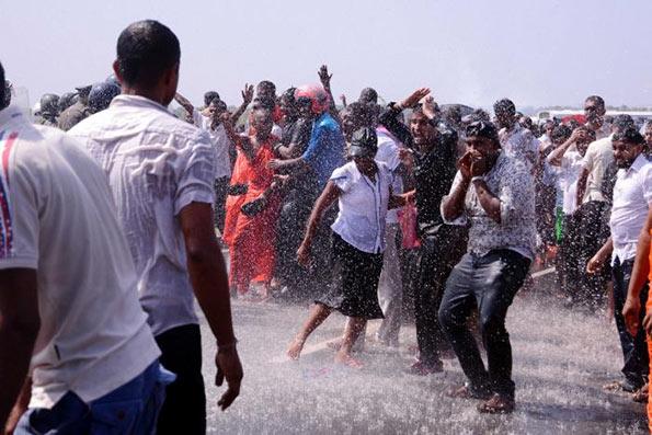 Protest in Mirijjawila - Sri Lanka