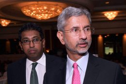 S Jaishankar with Harsha De Silva