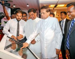 Sri Lanka President Maithripala Sirisena at the ceremony to inaugurate the right to information act