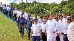 Sri Lanka President Maithripala Sirisena at Welamitiyawa vidyalaya in Galewela