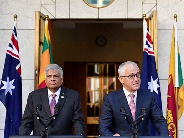 Sri Lanka Prime Minister Ranil Wickremesinghe with Australian Prime Minister Malcolm Turnbull
