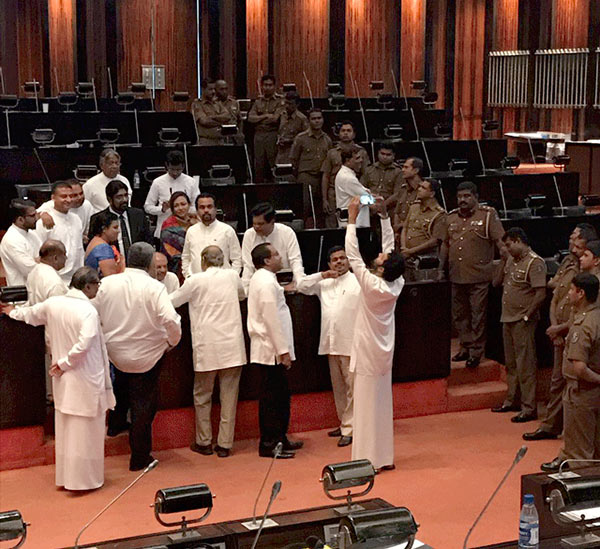 MP Dinesh Gunewardena has been suspended