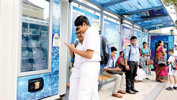 First smart bus halt in Town Hall Sri Lanka