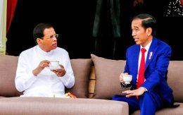 Sri Lanka President Maithripala Sirisena met Indonesian President Joko Widodo
