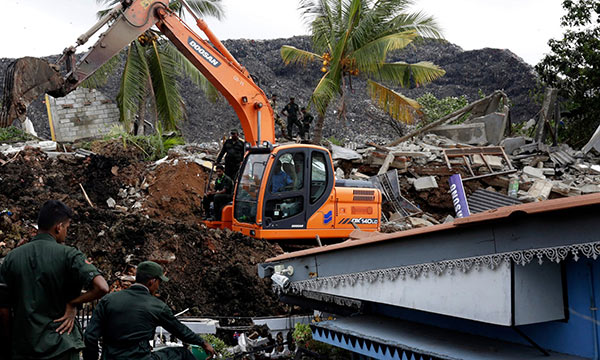 Meethotamulla garbage dump collapsed and rescue operation