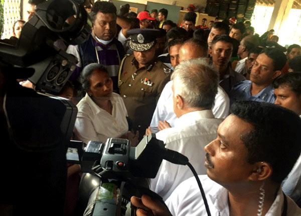Sri Lanka Prime Minister Ranil Wickremesinghe at Meethotamulla garbage site