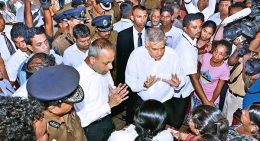Ranil Wickremesinghe is at Meethotamulla