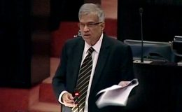 Ranil Wickremesinghe at Parliament
