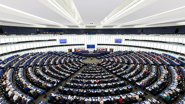 The European Parliament in Brussels