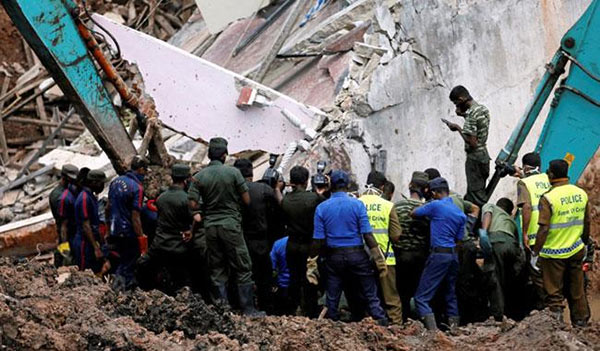 Building collapsed in Sri Lanka