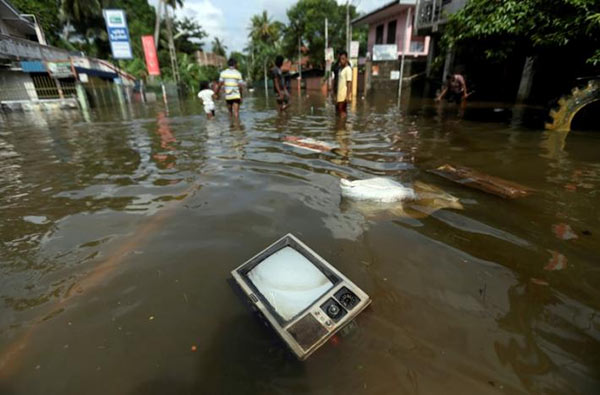 Flood disaster in Sri Lanka