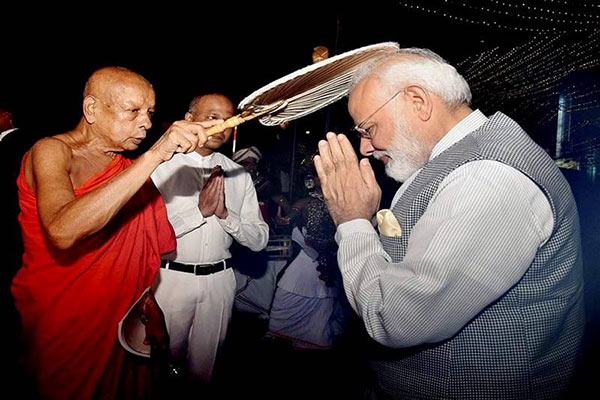 India Prime Minister Narendra Modi in Sri Lanka visit for Vesak