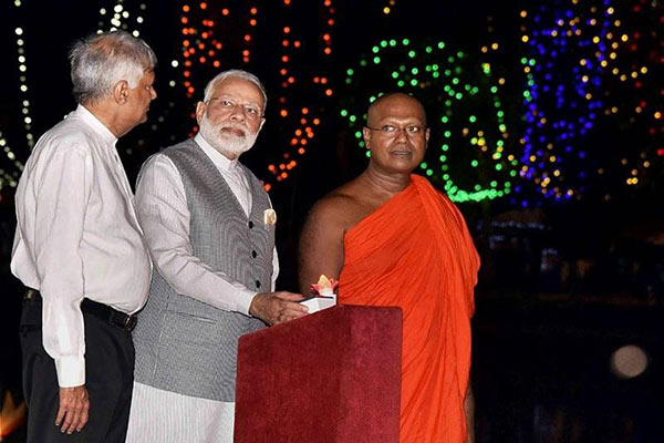 India Prime Minister Narendra Modi in Sri Lanka visit for Vesak