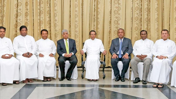 New ministers take oaths in Sri Lanka