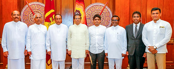 New state ministers in Sri Lanka