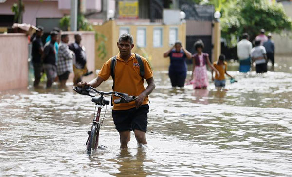 Sri Lanka flood survivors